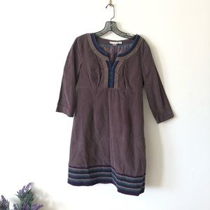 Boden corduroy purple dress size 8